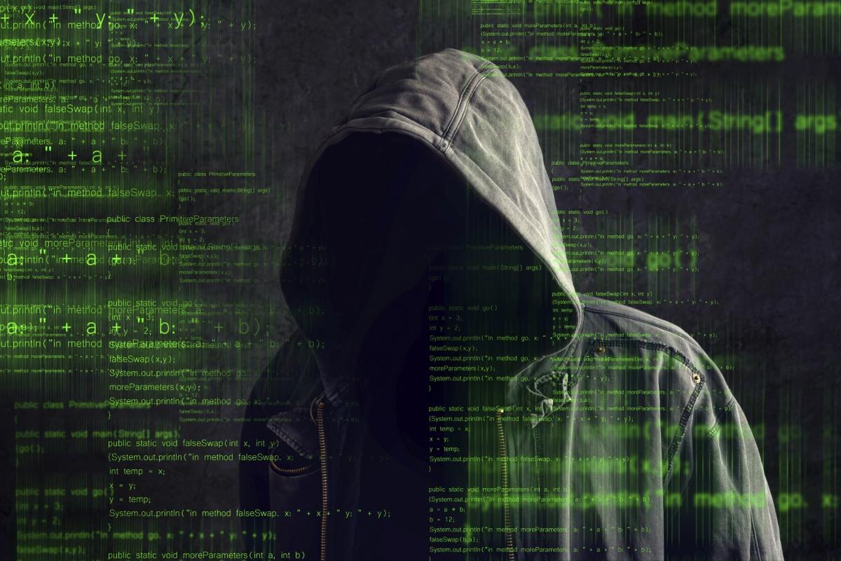 An unknown hacker