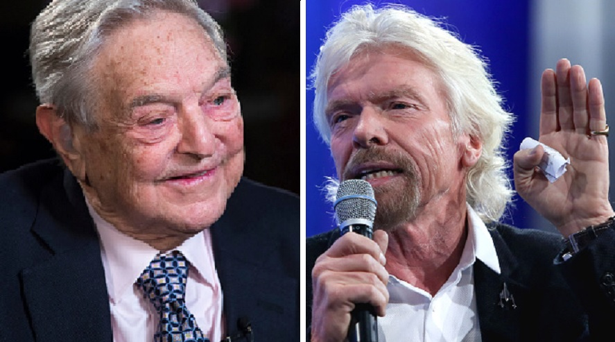 George Soros and Sir Richard Branson