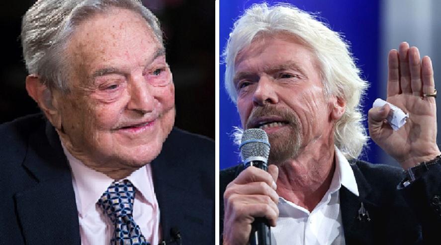 George Soros and Sir Richard Branson