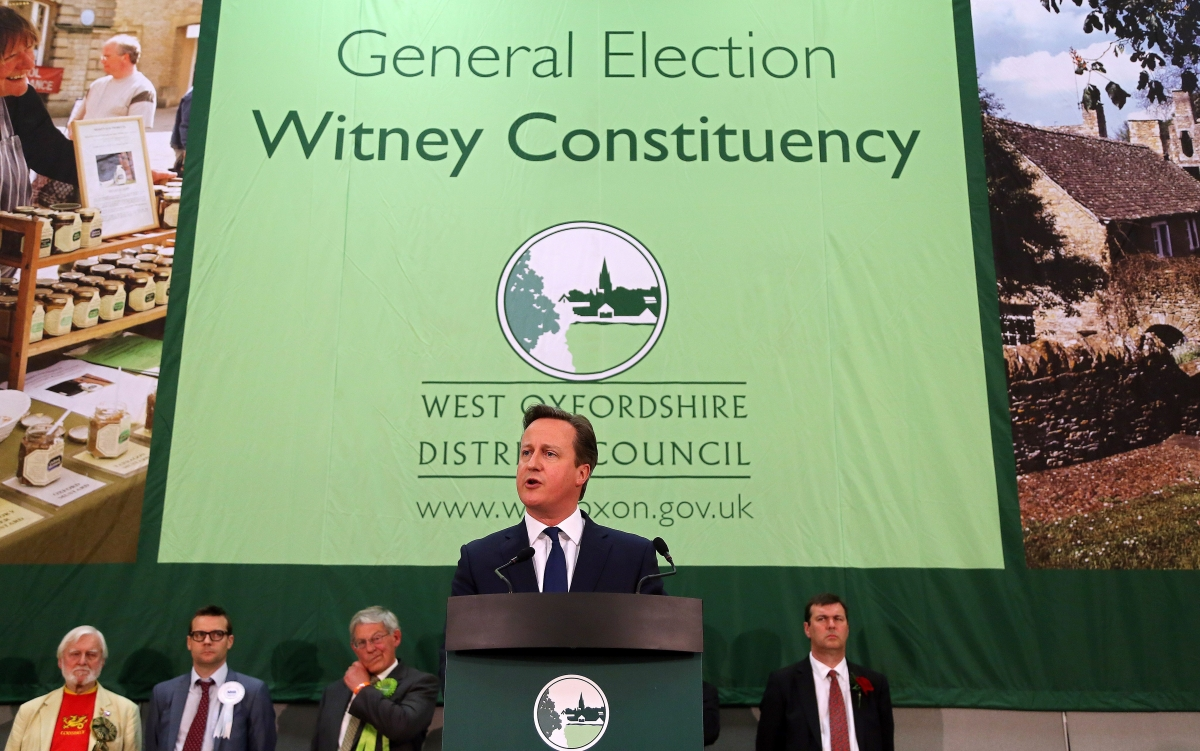 Prime Minister David Cameron delivers a speech