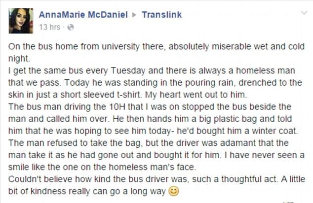 Bus driver Paul Doyle