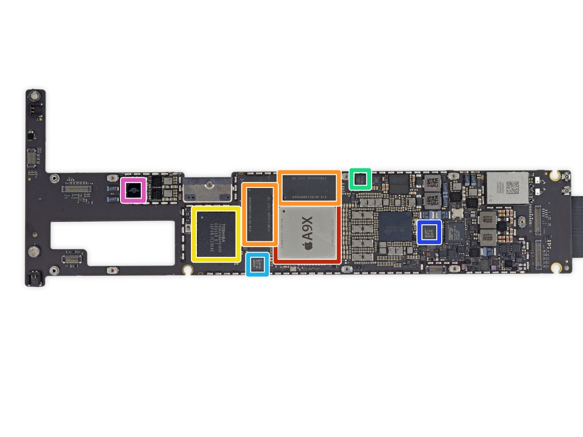 Apple Ipad Pro Key Internal Components Of 12 9in Tablet
