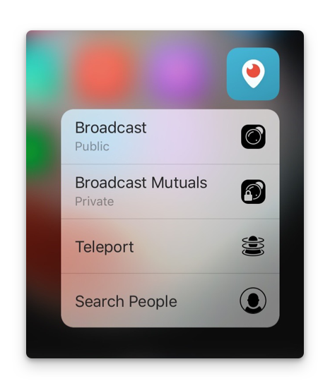 Periscope 3D Touch support