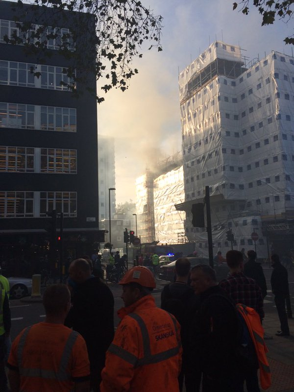 The fire this morning in Old St