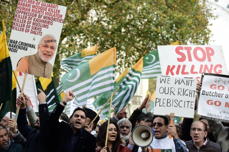 Anti-Modi protests outside Downing Street