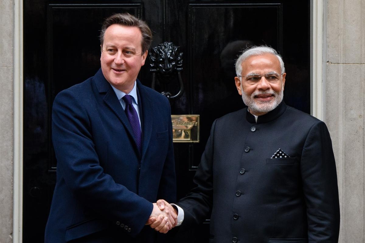 David Cameron and Narendra Modi in UK