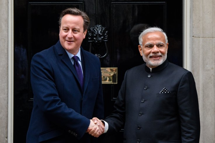 David Cameron and Narendra Modi in UK