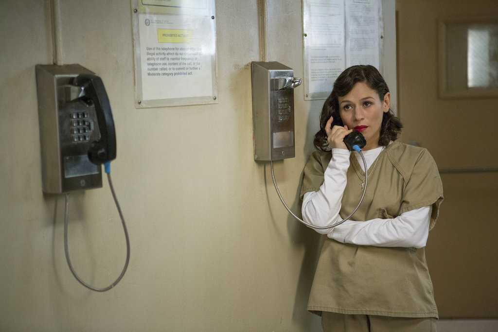 A prison inmate using the phone