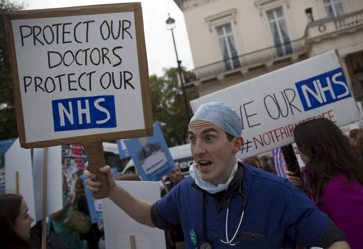 Junior doctor protest in October
