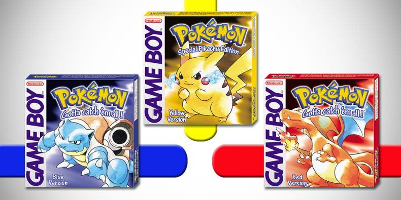 Pokemon Red Blue Yellow 3DS Nintendo