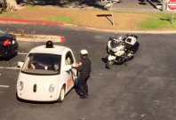 Google car pulled over by police