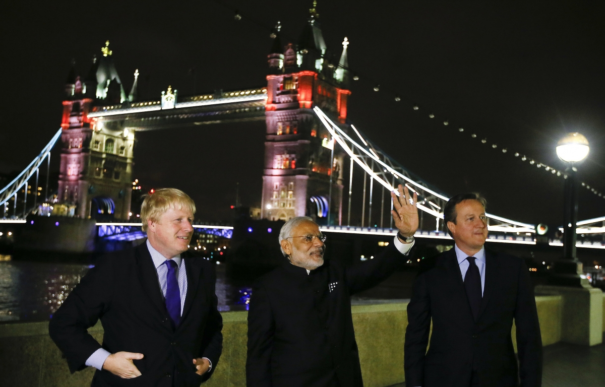 Modi at London Bridge