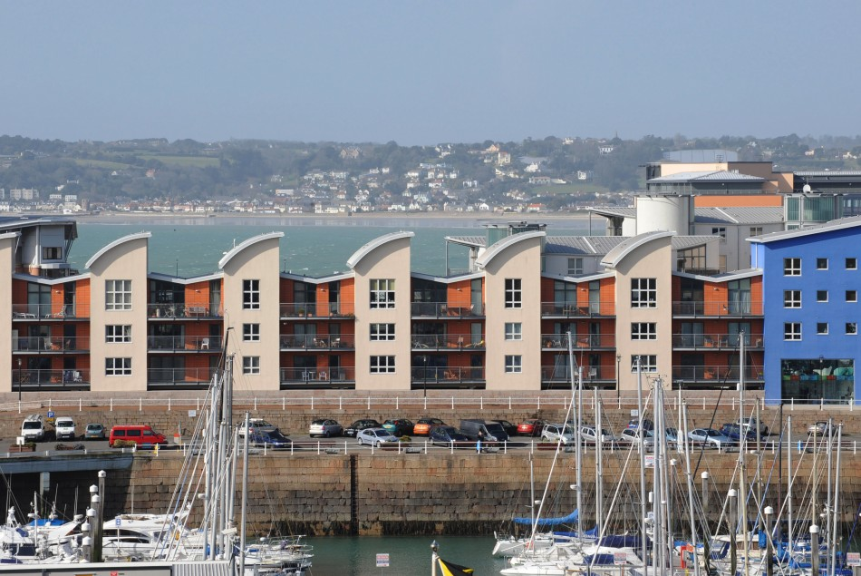 A general view of St Helier in Jersey