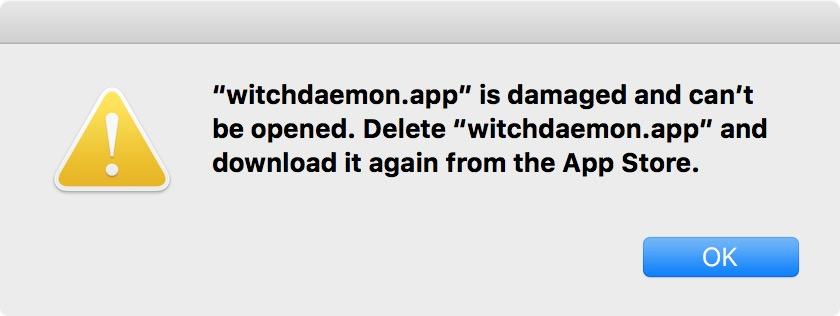 Mac App Store security glitch