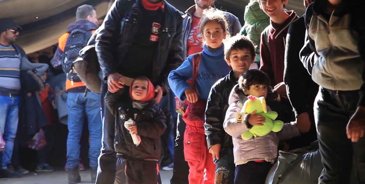 Child friendly space for refugees in Serbia