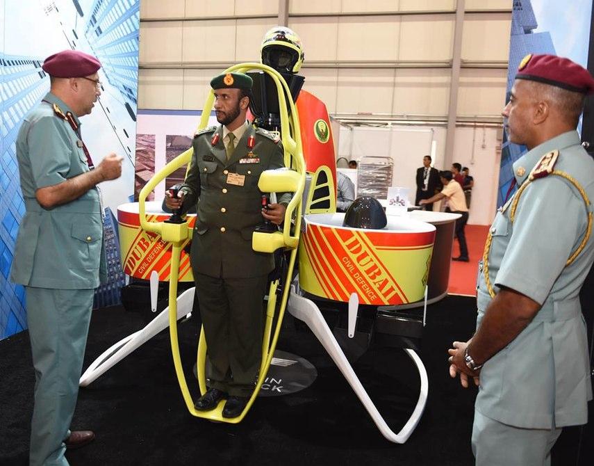 Dubai Civil Defence trials the Martin Jetpack