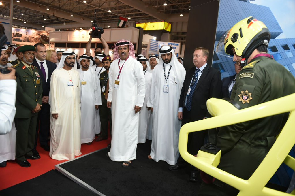Martin Jetpack on show at Dubai AirShow