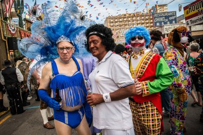 Benidorm British fancy dress day