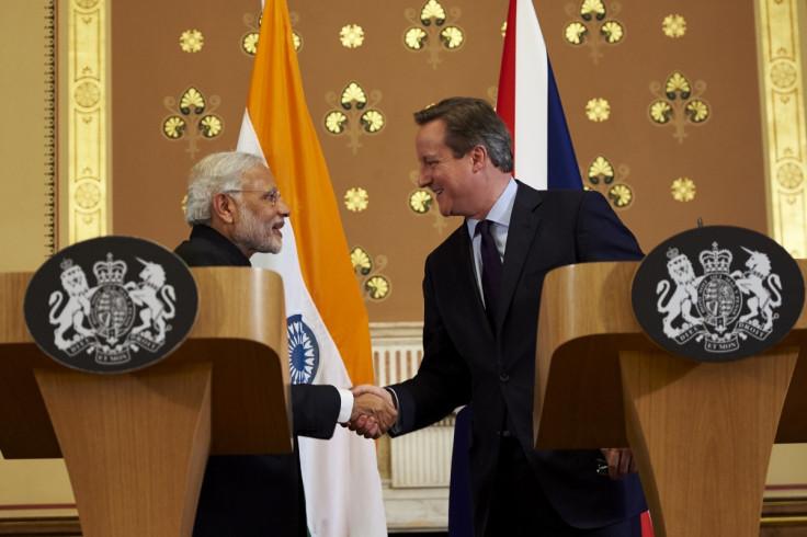 Narendara Modi and David Cameron