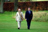 Narendra Modi and David Cameron at Chequers