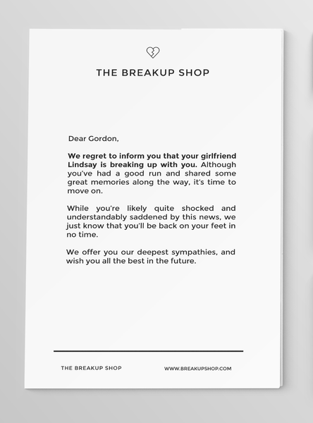 The Breakup Shop
