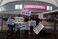Leslee Udwin and Snehalaya UK outside Wembley