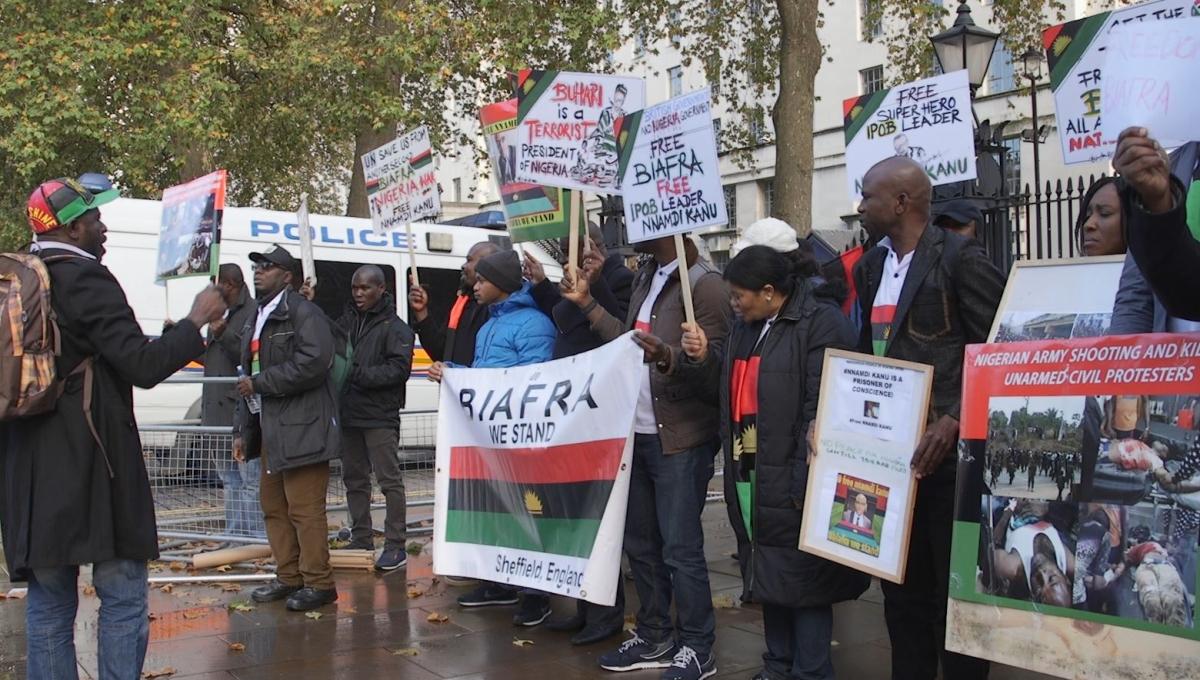 BIAFRA protest in London