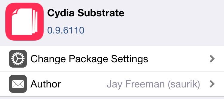 Cydia Substrate v0.9.6110