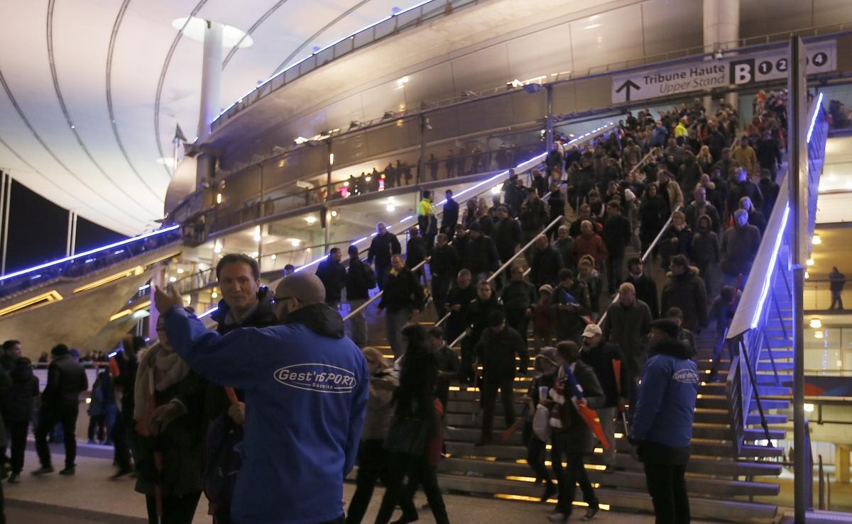Fans leaving Stade de France