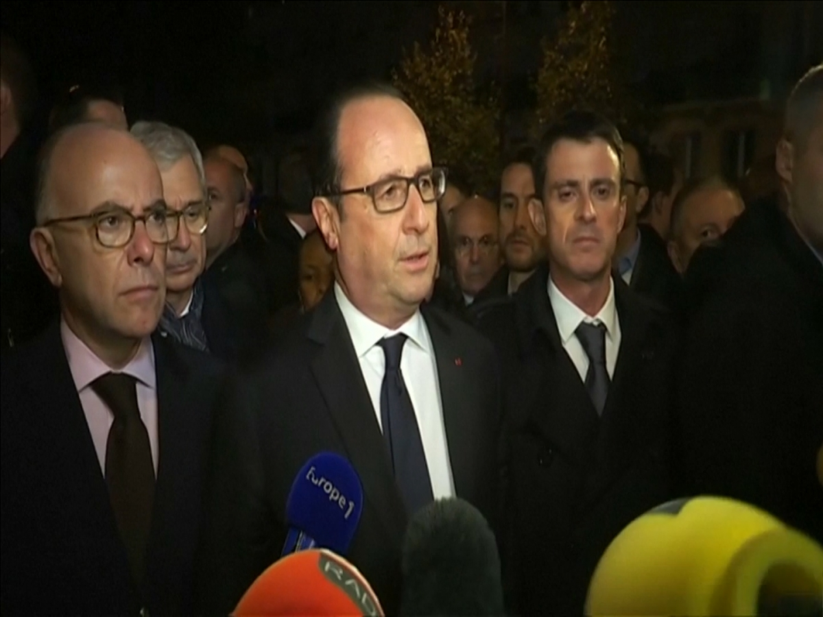 """President Francois Hollande says the French response will be """"merciless"""""""