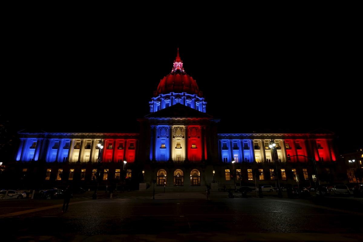 Paris Attacks San Francisco City Hall
