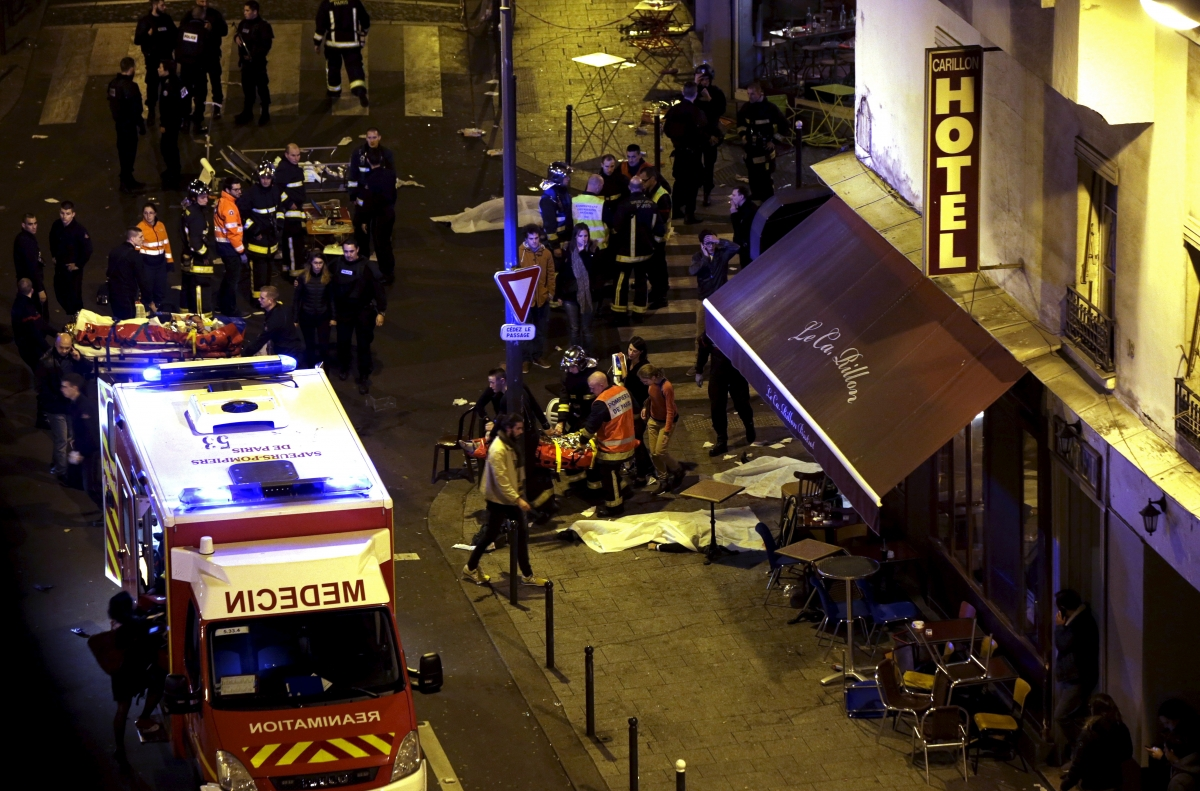 Paris attacks shooting scene aftermath