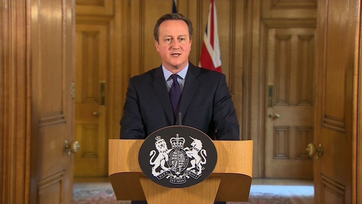 Prime Minister David Cameron pledges support to France