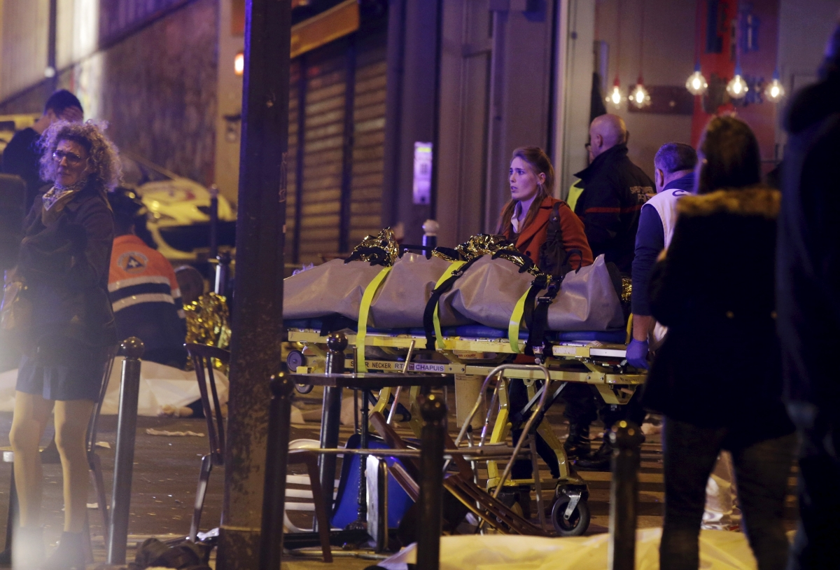 Bodies removed in Paris