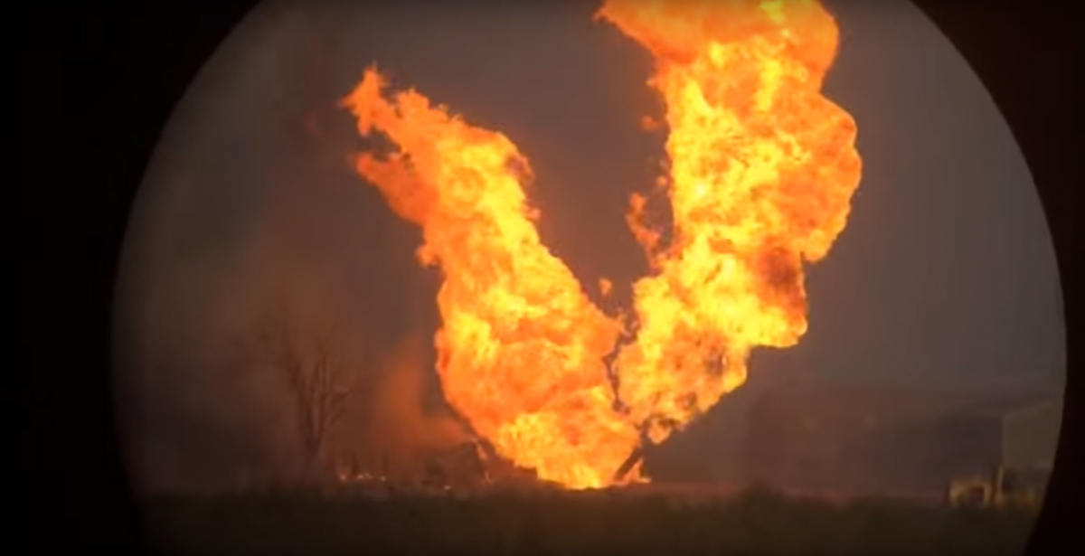 Natural Gas Line Explosion California