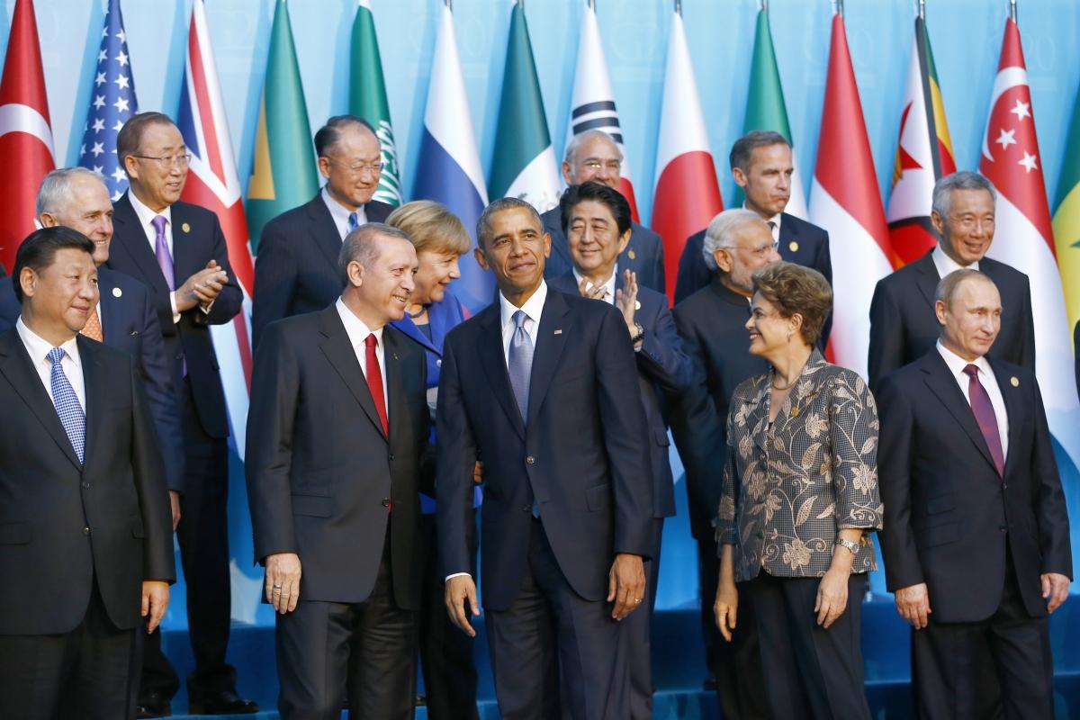 G20 leaders in Antalya