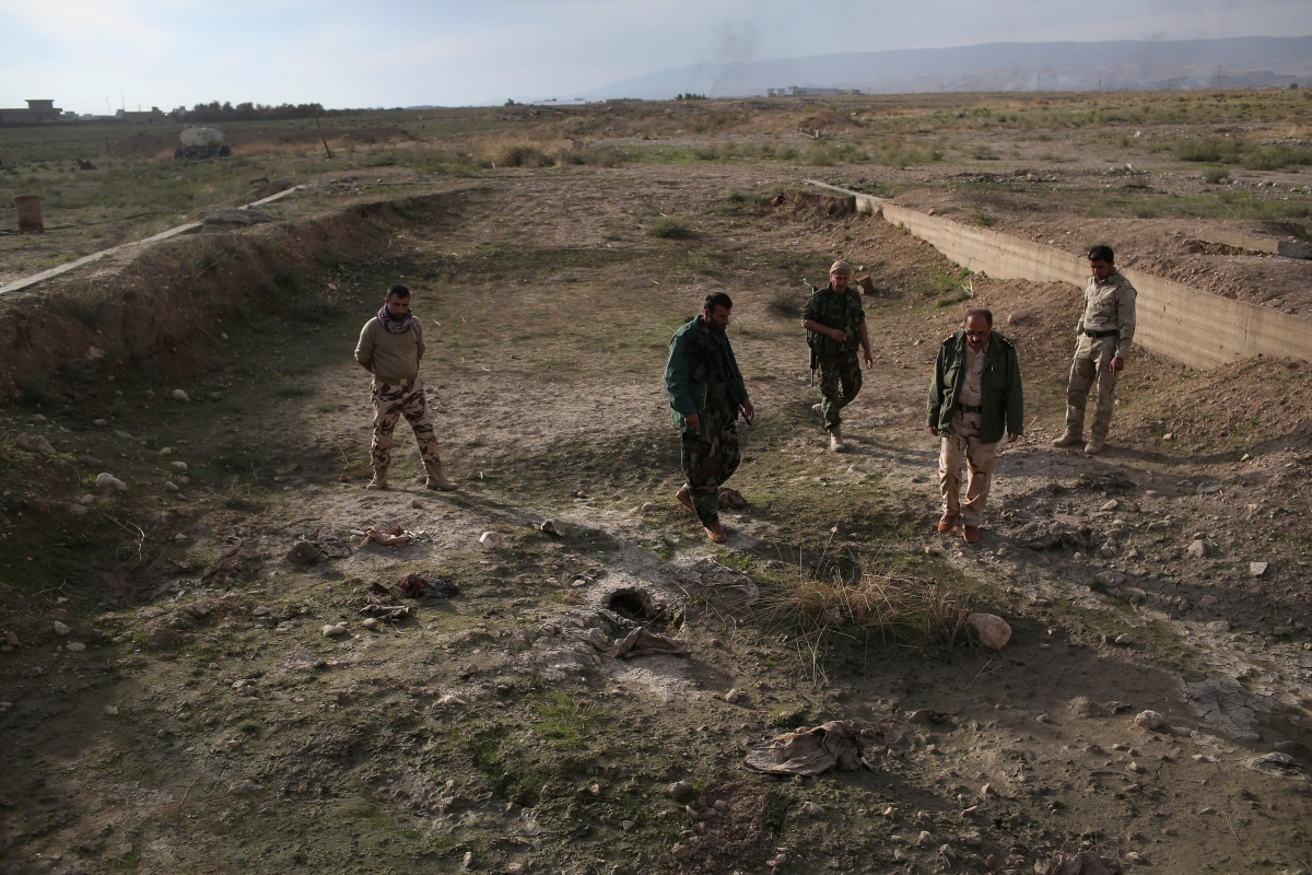 Yazidi mass graves found