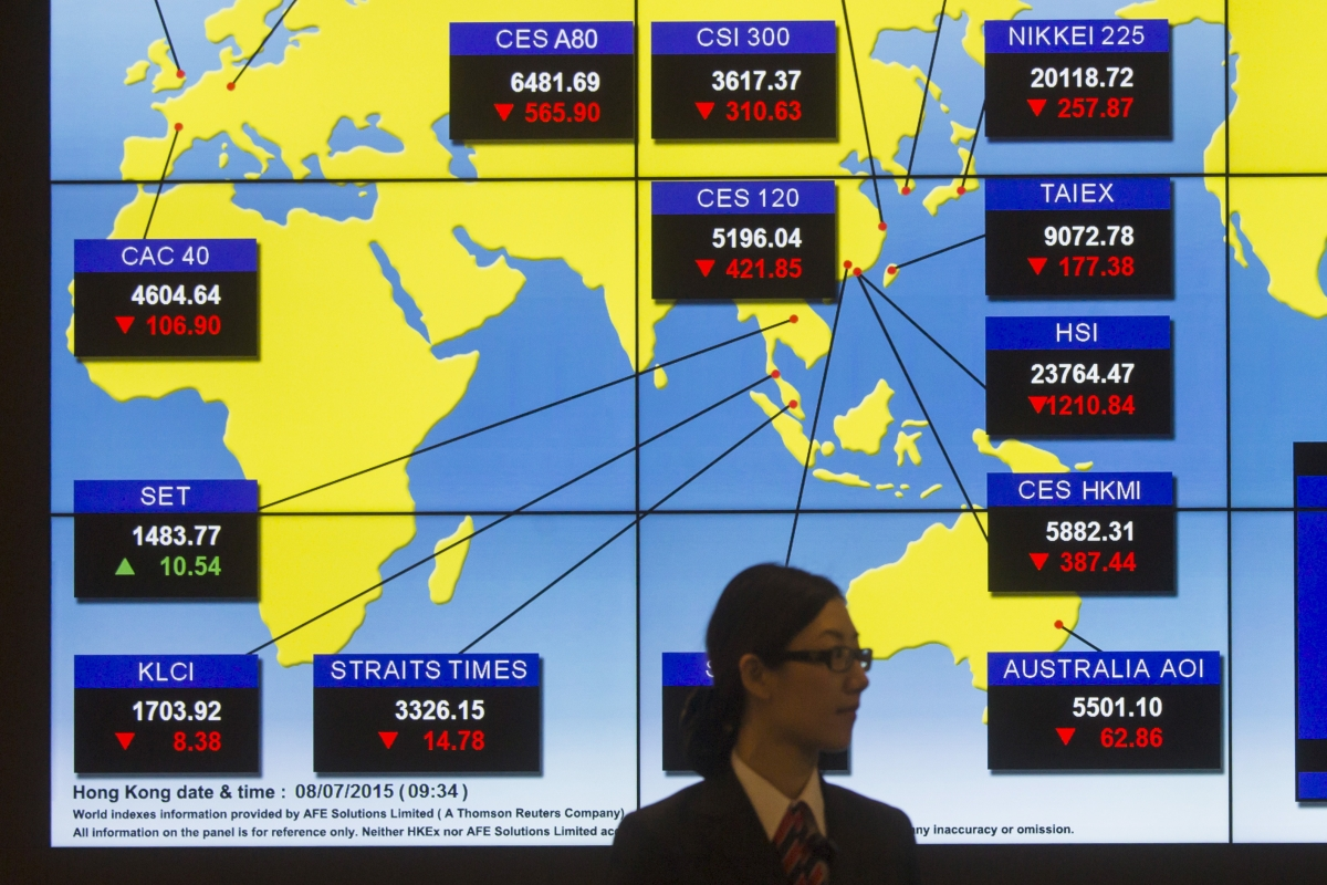 Asian markets fall in response to Paris attacks and weak Japanese data