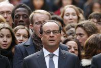 Francois Hollande leading silence