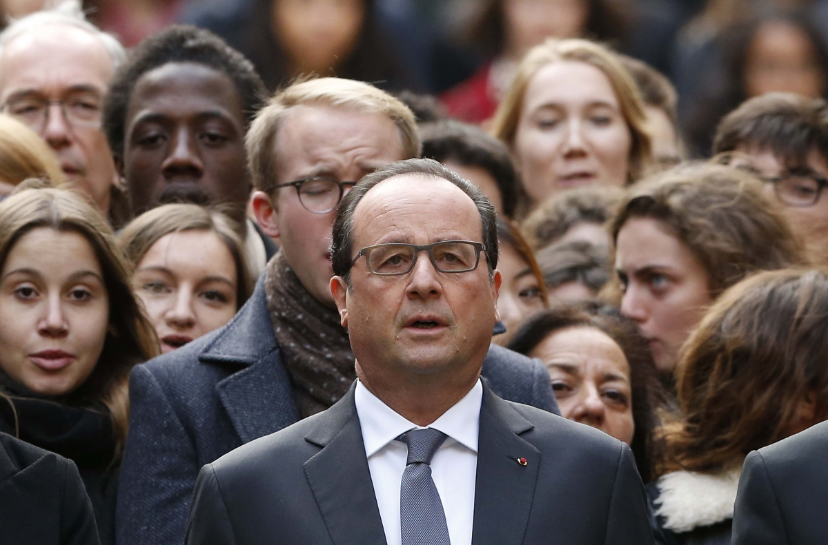 Francois Hollande leading silence