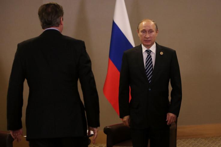 David Cameron Vladimir Putin UK Russia