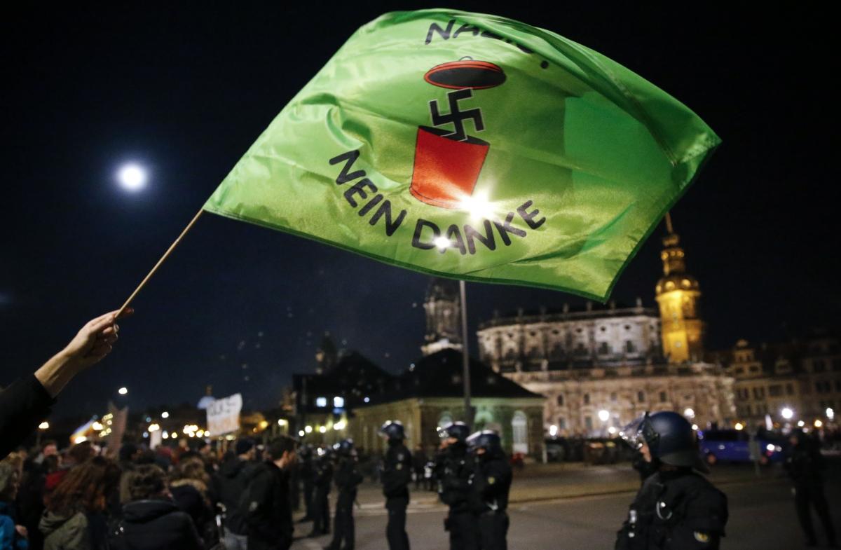 Pegida rally and Paris attacks