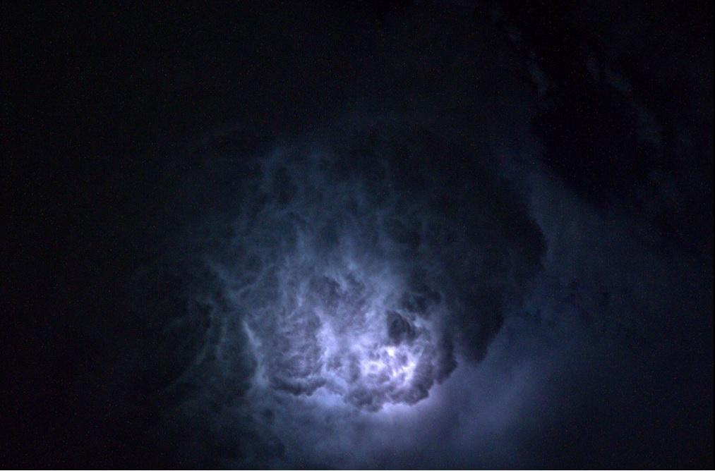Lightening clouds