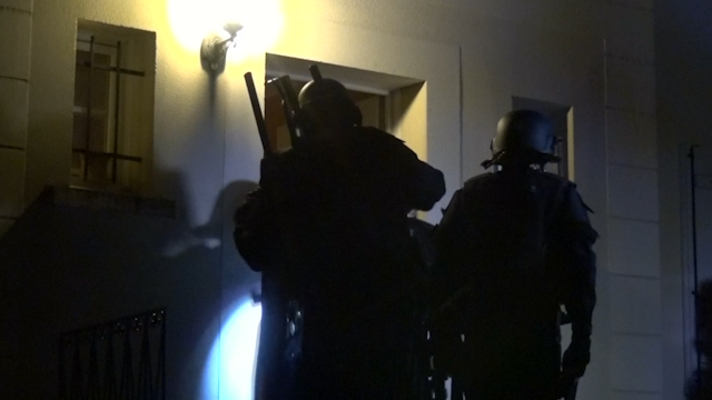 Police searches in France