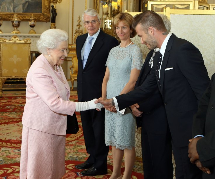 David Beckham and The Queen