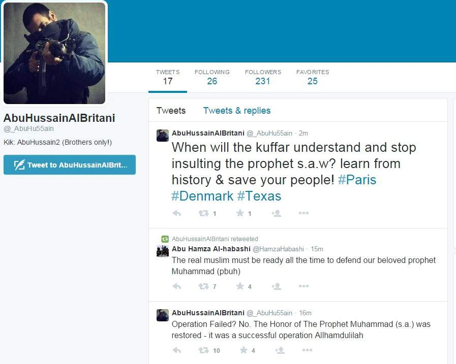 Isis Supporter Twitter Account