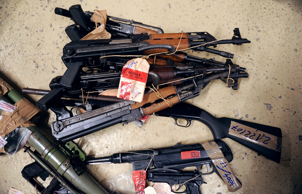 Weapons including Kalashnikovs seized in Marseille