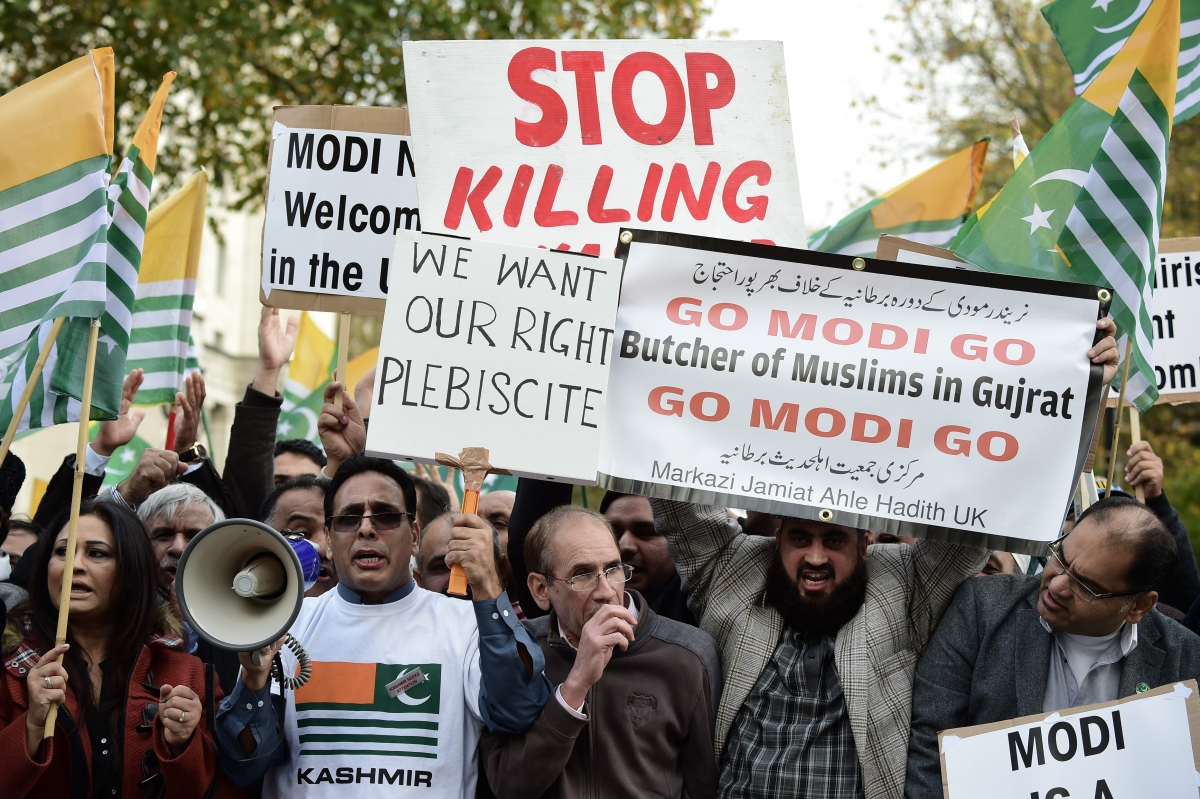 Modi Not Welcome protesters