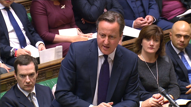 David Cameron in Parliament