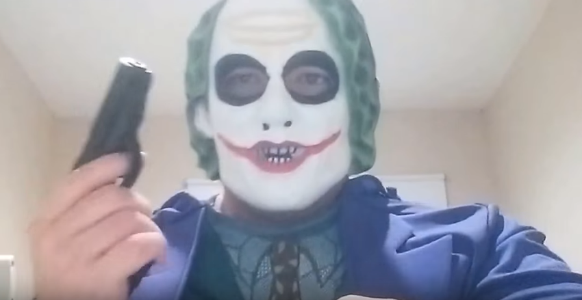 joker mask man
